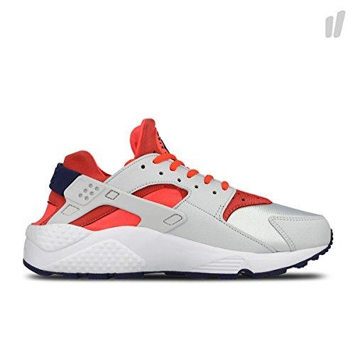 Womens Nike Air Huarache Run Pure Platinum Bright Crimson Loyale Blauwe Maat 12 634835-013