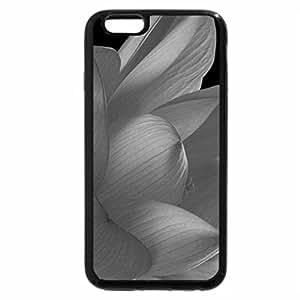 iPhone 6S Case, iPhone 6 Case (Black & White) - Red lotus