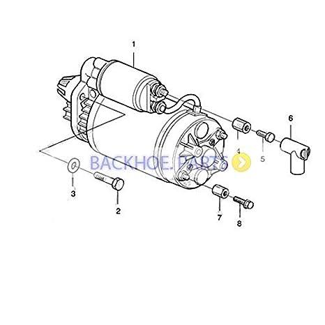 Amazon Com Starter Motor 22222006 For Volvo Penta D5a D7a D7c