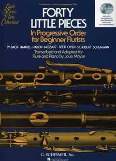Forty Little Pieces In Progressive Order for Beginnner Flutists - Performance and Accompaniment CDs