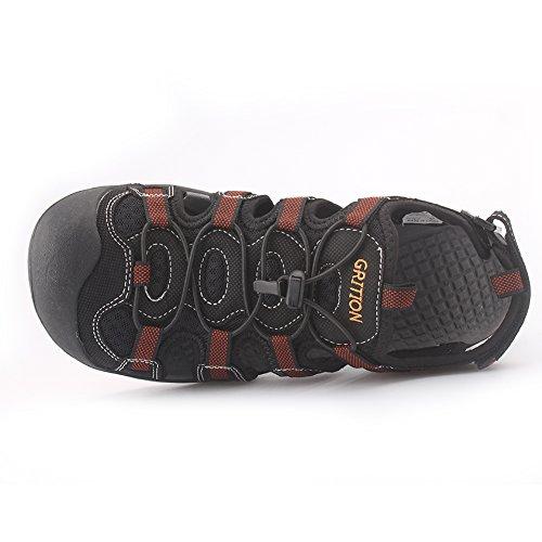 Pictures of GRITION Men's Outdoor Sandals Protective Toecap 4