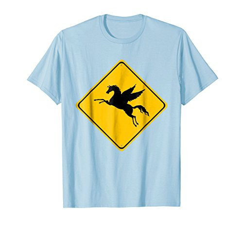 Mens Pegasus the Winged Horse Crossing - Xing Street Sign T-Shirt 2XL Baby ()