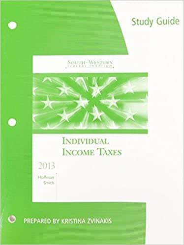 Study guide for hoffmansmiths south western federal taxation 2013 study guide for hoffmansmiths south western federal taxation 2013 individual income taxes 36th 3rd edition fandeluxe Image collections