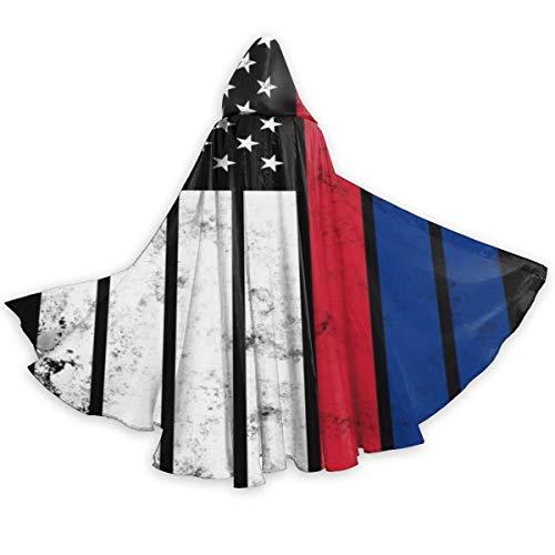Decopik Unisex Distressed Liechtenstein American Flag Hooded