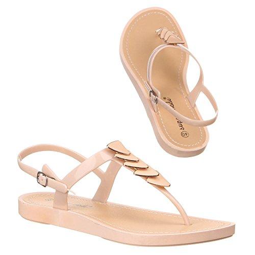 Ital-Design - Sandalias de vestir de Caucho para mujer Beige - beige