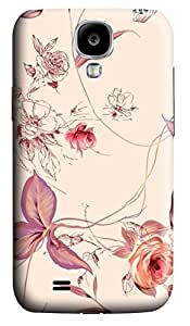 S4 Case, Samsung S4 Case, Customized Protective Samsung Galaxy S4 Hard 3D Cases - Personalized Pink Flowers01 Cover