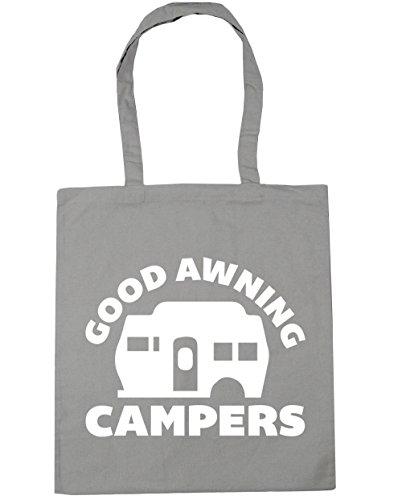 HippoWarehouse Good Markise Campers Einkaufstasche Fitnessstudio Strandtasche 42cm x38cm, 10 liter - Baumwolle, Hellgrau, 100% baumwolle 100% baumwolle, Damen, One size