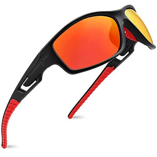 MAXJULI Polarized Sports Sunglasses for Men Women Tr90 Frame for Running Fishing Baseball Driving MJ8013 (Best Toothpick Bridge Design)