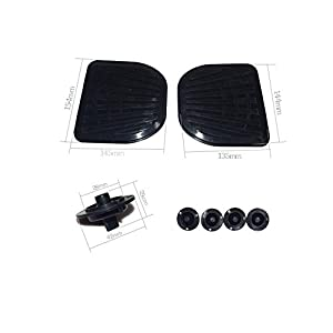 "Replacement Rubber Top Foot Pads Pedal Cover for 6.5"" and 10"" Self Balancing Electric Scooter Hover Board"