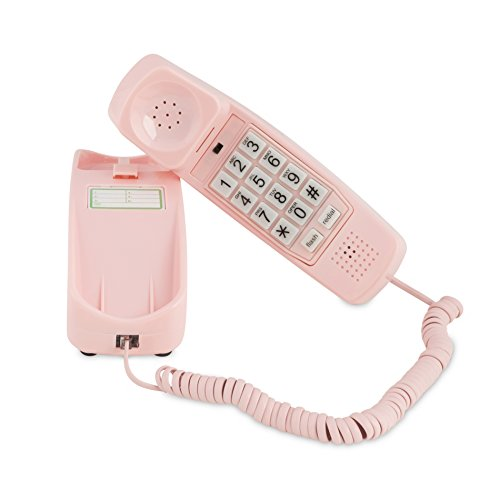 iSoHo, Trimline Phone - Phones For Seniors - Phone for hearing impaired - Ladies Pink - Retro Novelty Telephone - An Improved Version of the Princess Phones in 1965 - Style Big Button