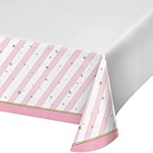 Creative Converting Border Print Plastic Tablecover, Twinkle Toes