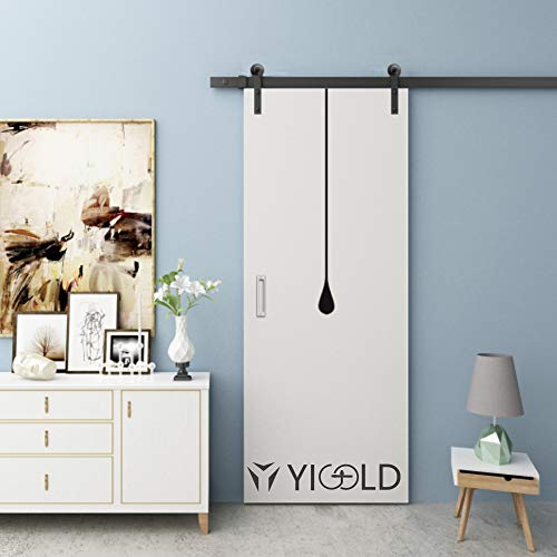 6.6FT Hardware for Barn Doors Sliding Barn Door Hardware Powder Coated Black Easy to Install Includes Step-by-Step Installation-Ultra Sturdy-Fit 36