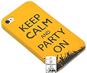 iphone covers Case for Apple Iphone 6 plus Keep Calm and Party On Vintage Hands Up High Party Queen Party Animal Electronic Music Happy Drink Drunk Keep Calm Night out Peace Peaceful Shiny Glossy