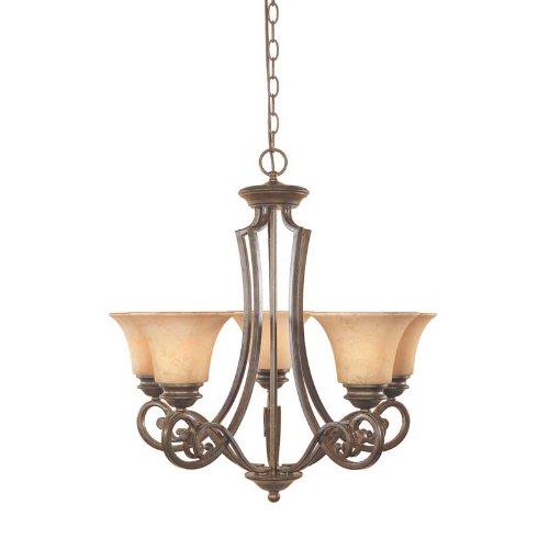 (Designers Fountain 81885-FSN Mendocino 5 Light Chandelier, 25.25