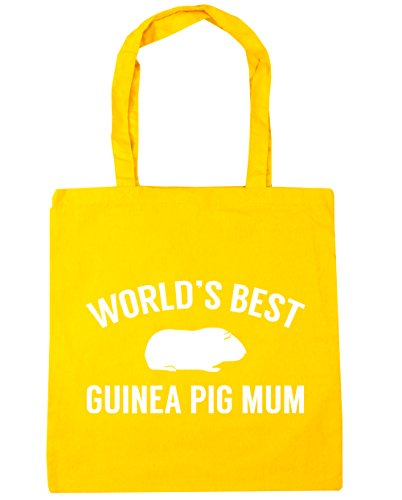 Tote HippoWarehouse Gym World's litres x38cm Bag 42cm Beach 10 Yellow pig Shopping best guinea mum qF4fwXTFr
