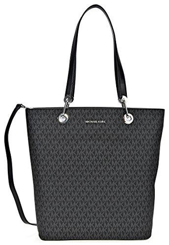 South Shoulder Tote (MICHAEL Michael Kors Raven Large North South Top Zip Tote (Signature Black))