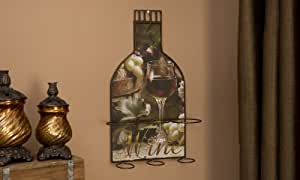 Giftcraft Wall Mounted Metal Three Wine Bottle Holder