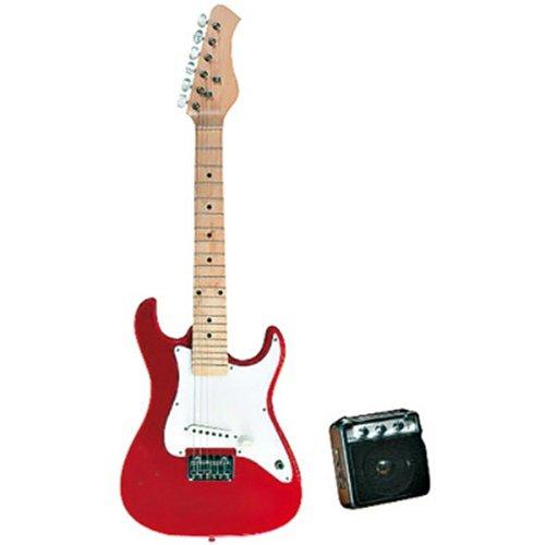 guitare electrique rouge et blanche