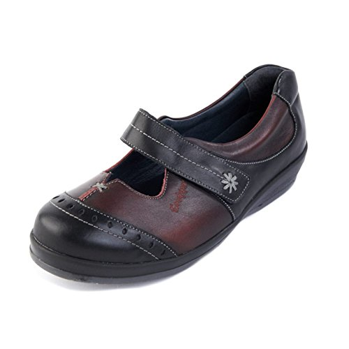 Fit In Adjustable Bar Wide Sandpiper Width Extra Touch Long 3 Low Shoe 4e 6e burgundy Black 1 Fastening 'filton' Women's System Cut Front Single w6p7XqC