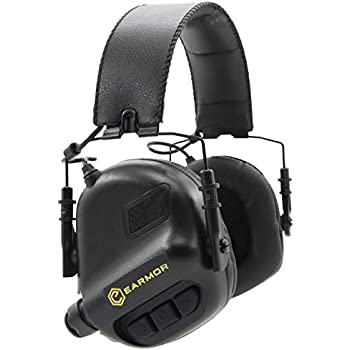 OPSMEN M31-MOD1 Sound Amplification Gun Shooting Noise Canceling Hearing Sport Protection Electronic Earmuff Classic Black