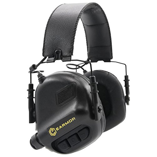OPSMEN M31-MOD1 Sound Amplification Gun Shooting Noise Canceling Hearing Sport Protection Electronic Earmuff Classic Black