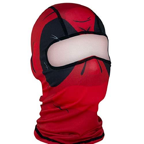 Vagabond Joes Red Dawn Black Red Biker Costume Balaclava Stretch Face Mask -
