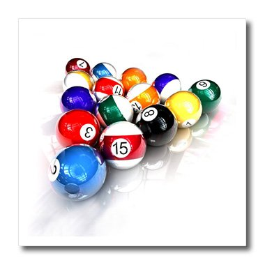 3dRose HT 3318 _ 3 Bolas de Billar Pool-Iron sobre Transferencia ...