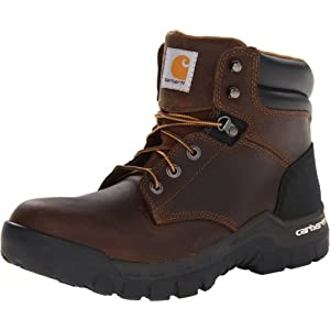"Carhartt Men's 6"" Rugged Flex Waterproof Soft Toe Work Boot CMF6066,Brown Oil Tanned Leather,9.5 W US"