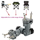 Isafish Multi-Functional Fishing Tools Holder Universal Fishing Chair Attachment Fishing Rod Holders Bracket