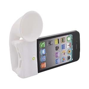 WHITE Bone Speaker Horn Stand for Verizon AT&T Iphone 4