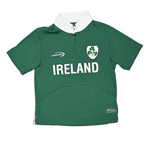 Lansdowne Green Ireland Shamrock Performance Short Sleeve Kids Rugby Shirt (1/2 Years)