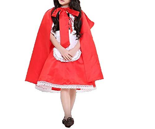 Ablaze Jin Halloween Children Costume Girl Little Red Riding Hood cdress Princess Halloween Costume DS Clothing,RED,M]()