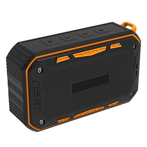- GSHWJS Wireless Bluetooth Speaker Outdoor Portable Waterproof Built-in 2000 MAh Battery High Power 4 Euro 6W Speaker Emergency Charging Speaker (Color : Orange)