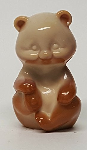 Fenton Chocolate Slag Glass Sitting Bear 2.25