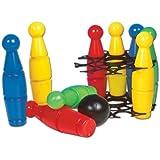 Glow2B Spielwaren 1000077 - Großes Kegelspiel, 10-teilig, 23 x 23 x 24 cm