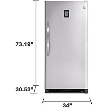 kenmore upright freezer. kenmore elite 27003 20.5 cu. ft. upright freezer - stainless steel