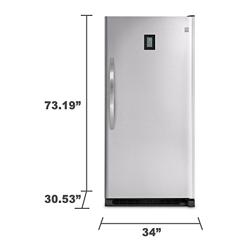 Kenmore Elite 27003 20.5 cu. ft. Upright Freezer - Stainless Steel by Kenmore Elite