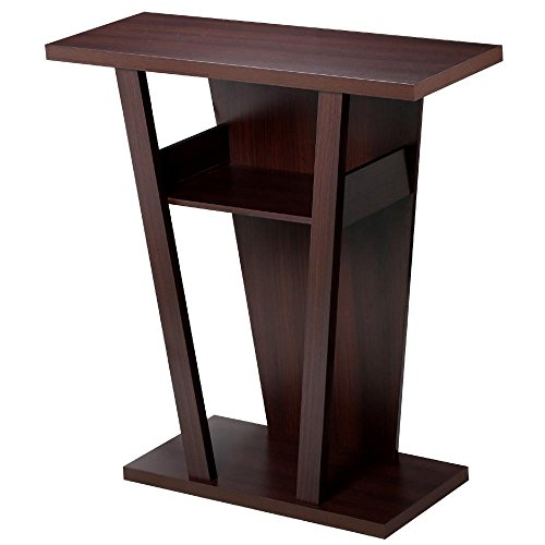 go2buy V-Shape Console Table Sofa Side End Stand Rack Hall Entry Way Living Room (Tv Stand Tall Narrow)