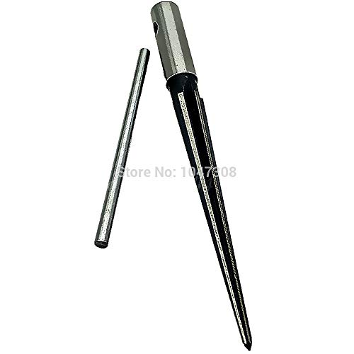 Drive 72 Tooth Ergonomic Ratchet - 1 piece T Handle Tapered Taper Hand Held Reamer Hole Pipe Chaser Reaming Bit Hand Tool 1/8-1/2(3.18-12.7mm) 1:10 Drill Enlarging Holes
