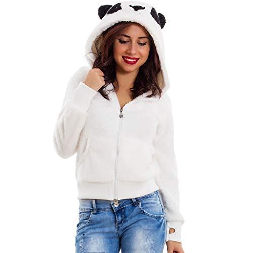 (NRUTUP Womens Winter Cute Jacket Parka Hooded Coat Zipper Pocket Long Sleeves Overcoat)