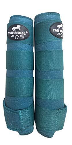 TGW RIDING Horse Sports Medicine Boots Horse Leg Wraps (Turquoise, S)