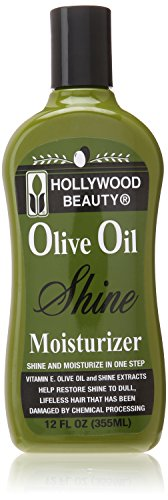 Hollywood Beauty Olive Oil Moist and Shine Moisturizing Hair Lotion, 12 Ounce