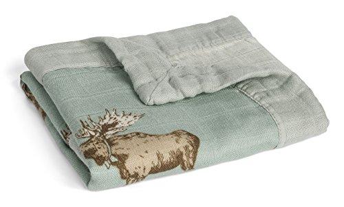 Lovey Blanket - MilkBarn Mini Lovey Baby Blanket (Bow Tie Moose)