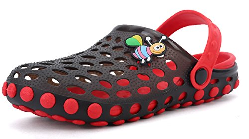 Beeagle Kid's Cute Garden Shoes Cartoon Slides Sandals Clogs Children Beach Slipper Red 35-36 - Jelly Water Shoe