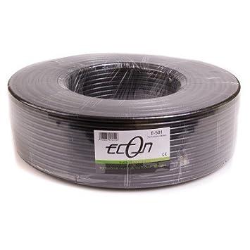Cable Coaxial de Antena Cable Coaxial Econ coaxial Cable Dual schilded RG de 6 100