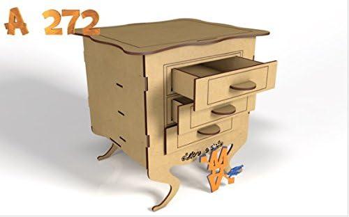 Kit para hacer mueble porta cupcake con cajones de madera DM para ...