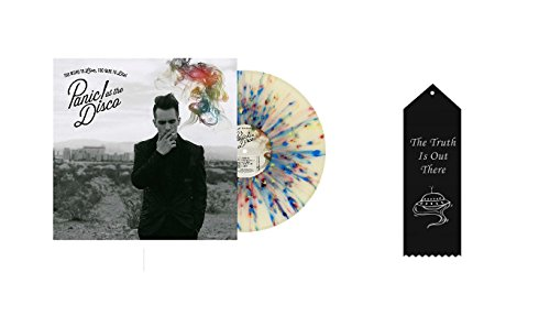 Die Ribbon - Panic! at the Disco Too Weird to Live, Too Rare to Die! Splatter Vinyl with Ribbon Bundle