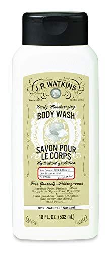 Aloe Body Milk - J.R. Watkins Daily Moisturizing Coconut Milk and Honey Body Wash, 18 Ounce