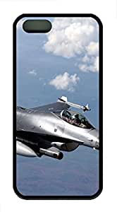 iPhone 5s Cases & Covers - F-16 Fighting Falcon Fighter TPU Custom Soft Case Cover Protector for iPhone 5s - Black
