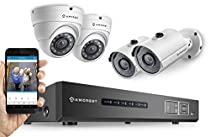Amcrest ProHD 720P 4CH Video Security System - Four 1.0-Megapixel (1280TVL) Outdoor IP67 Bullet & Dome Cameras, 1TB HDD, Night Vision, Remote Smartphone Access, White Mid (AMDV7204M-2B2D-W)